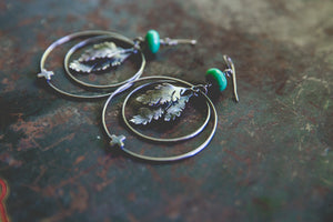 Beauty and Blight Earrings -- One Of A Kind