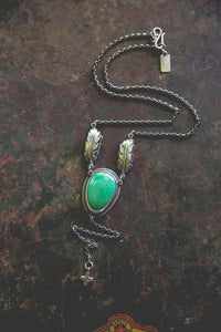 Echo of Flight Lariat Necklace -- Variscite