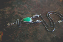 Load image into Gallery viewer, Echo of Flight Lariat Necklace -- Variscite