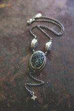 Load image into Gallery viewer, Echo Of Flight Lariat Necklace -- New Lander Variscite