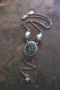 Echo Of Flight Lariat Necklace -- New Lander Variscite