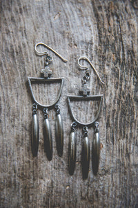 Light Burden Hoop Earrings -- Old Timey Glory
