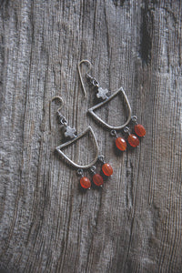 Light Burden Earrings -- Carnelian