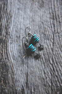Light Burden Earrings -- Turquoise