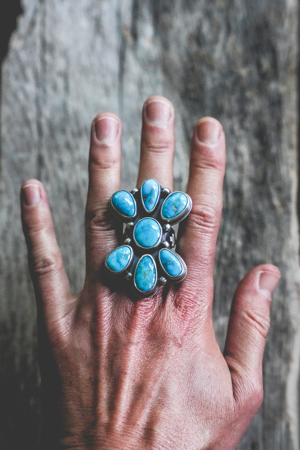 Bluebird Cluster Ring - Size 8