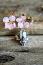 Load image into Gallery viewer, Apple Blossom Ring -- Turquoise -- Size 8.75