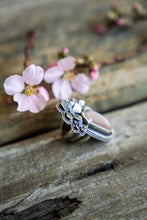 Load image into Gallery viewer, Apple Blossom Ring -- Peach Moonstone -- Size 7