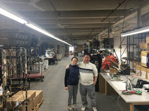Joanne and her Uncle Chung at their Brooklyn facility