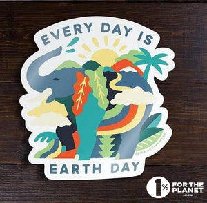 Every Day is Earth Day Sticker - All Proceeds go to Food Gatherers - JOOB Wear
