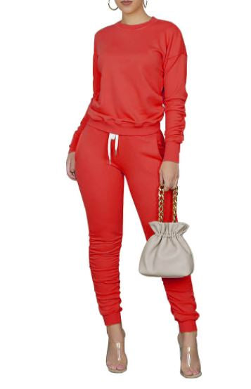 Looking For You Jogger Set-Red