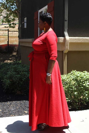 Vivid Dreams Red Maxi Dress