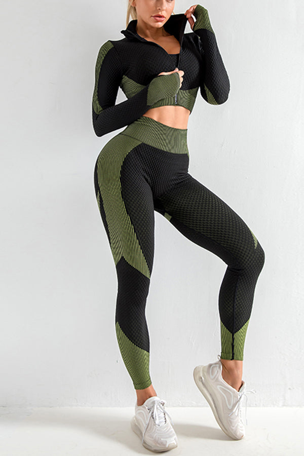 Nothing Like It Leisure Set - Green/Black