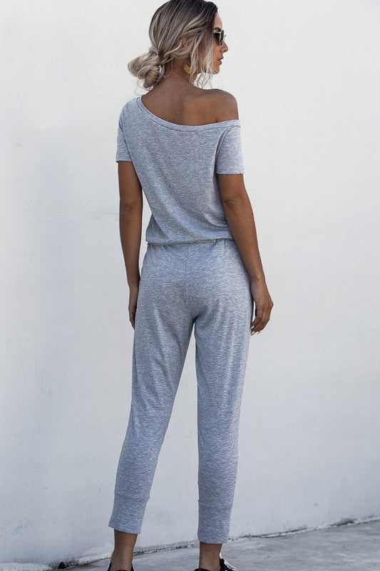 Lazy Day Romper - Gray