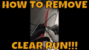 HOW TO REMOVE A CLEAR RUN FAST!