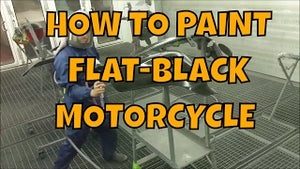 HOW TO PAINT CHIEFTAIN INDIAN MATTE BLACK MOTORCYCLE