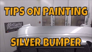HOW TO PAINT SILVER BUMPERS
