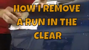 HOW TO REMOVE A RUN