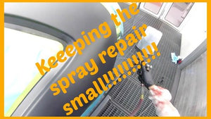 HOW TO KEEP A SPRAY REPAIR SMALL