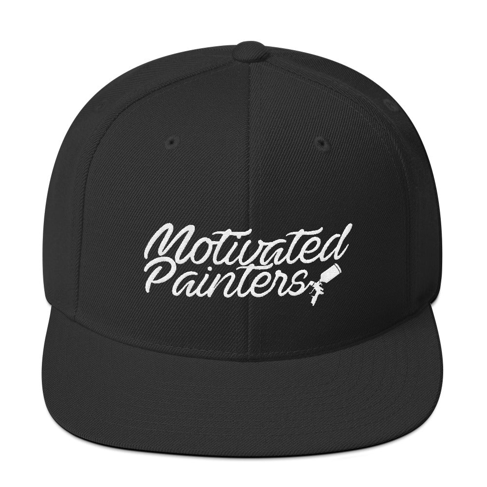 Motivated Painters Snapback Hat White Embroidered