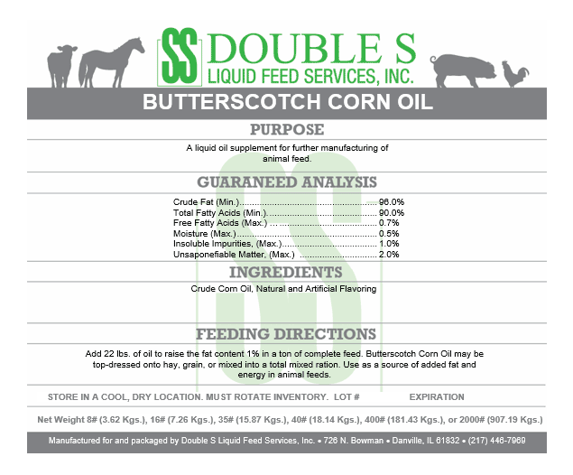 Butterscotch Corn Oil