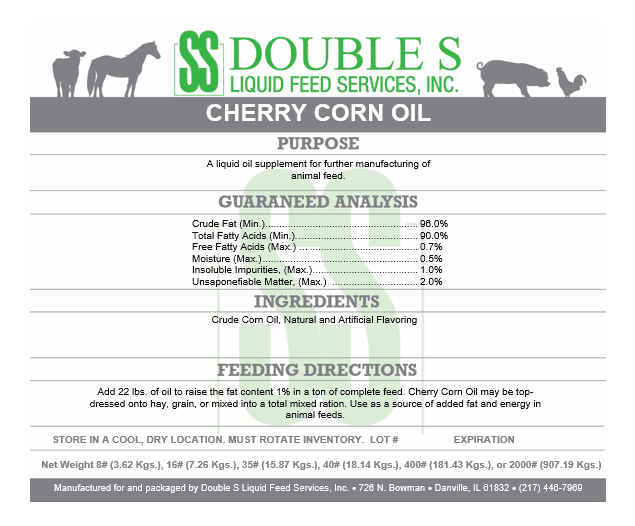 Cherry Corn Oil