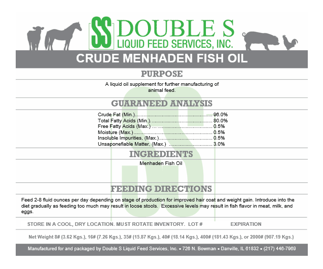 Crude Menhaden Fish Oil