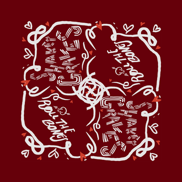 Roll The Bones Bandana - Red