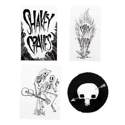 Shakey Graves Sticker Pack of 4