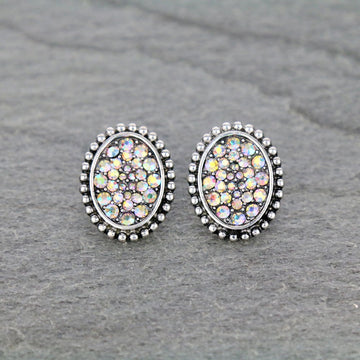 Oval Stud Bling