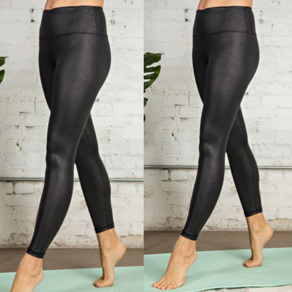 Leather Yoga Legging