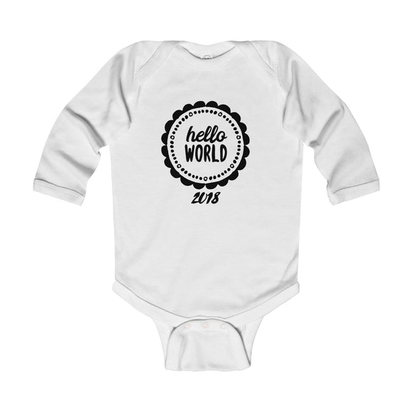 Hello World Long Sleeve Bodysuit