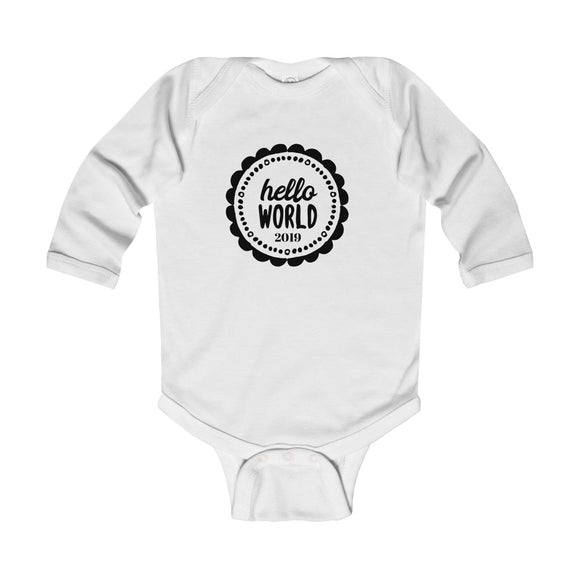 Hello World 2019 Long Sleeve Bodysuit