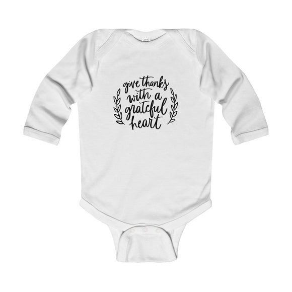 Give Thanks With A Grateful Heart Long Sleeve Bodysuit