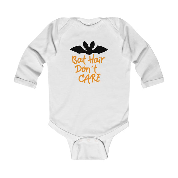 Bat Hair Don't Care Long Sleeve Bodysuit