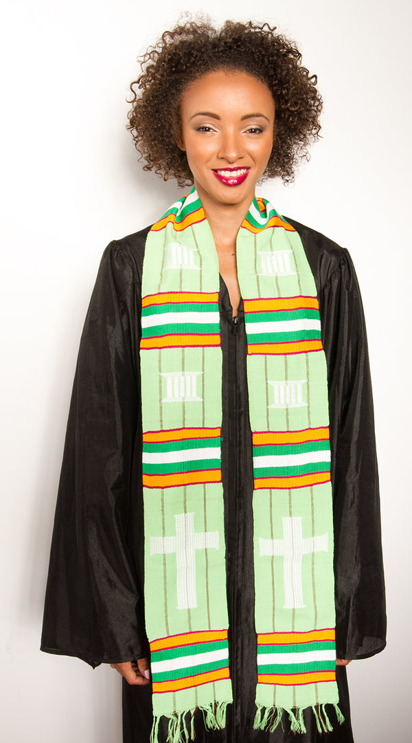 D16-RELIGIOUS CROSS KENTE STOLE