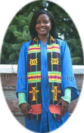 D19-RELIGIOUS CROSS KENTE STOLE