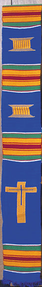 D1-RELIGIOUS CROSS KENTE STOLE