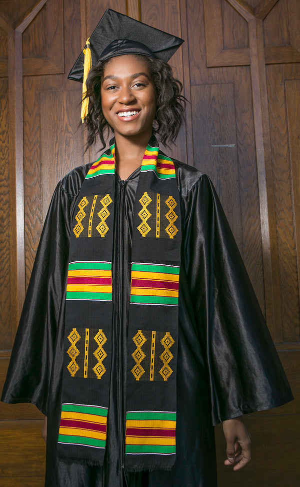 TL22-PLAIN KENTE STOLE-NOBILITY AND HONOR