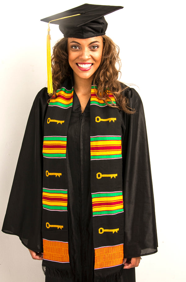 TL8-PLAIN KENTE STOLE-KEY OF SUCCESS