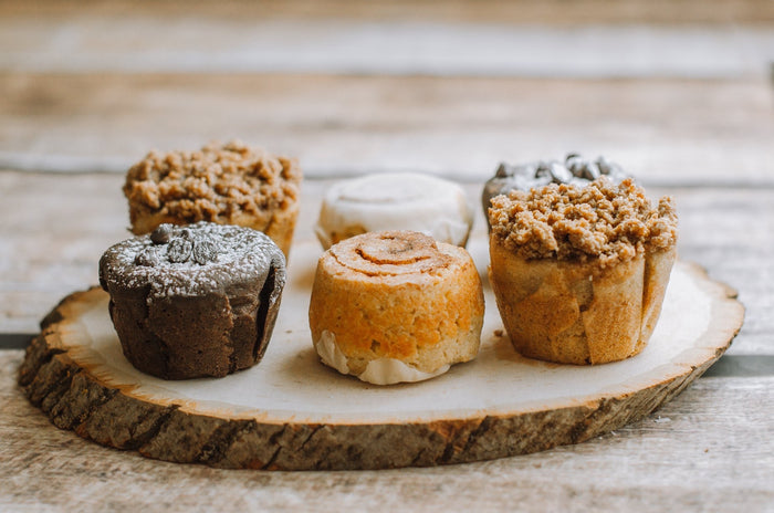 6 Muffin box - 2 flavors (3 of each)