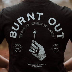'BURNT OUT' - SHORT SLEEVE UNISEX T-SHIRT