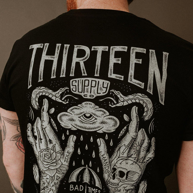 IDLE HANDS - BLACK UNISEX T-SHIRT
