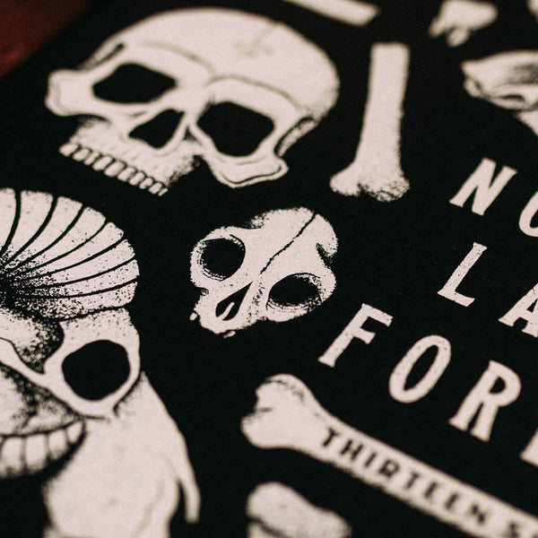 NOTHING LASTS FOREVER - A3 SCREEN PRINT