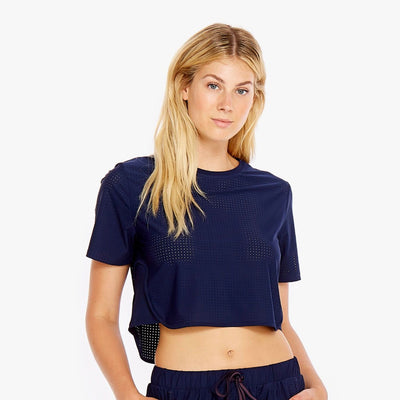 Track Cropped Tee