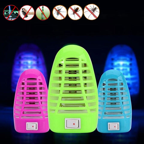 Electronic Mosquito Killer LED Socket Random Lamp Anti Newest Moth Bug Zapper Stinger Insect Killer Trap Night Lamp US Plug