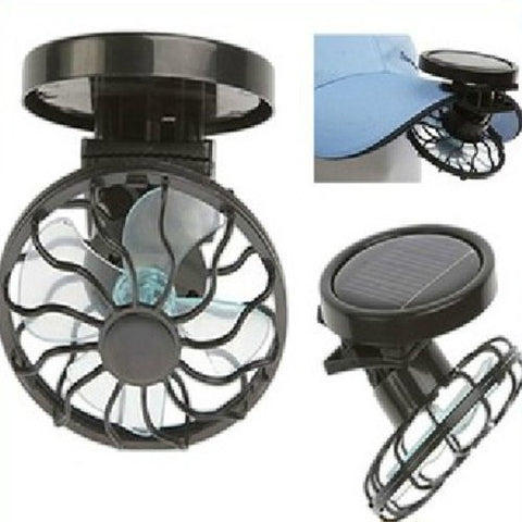 Portable Mini Solar Powered Clip Fan Mountain Climbing Camps,Wilderness Survival,Summer Must-have Hat Cap Fine
