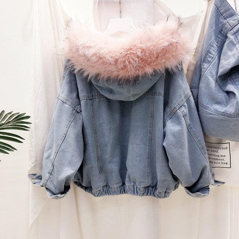 (Faux) Fur Lined Denim Jacket
