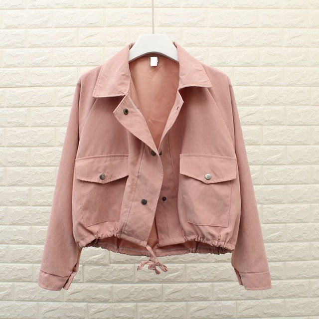Loose Fit Cropped Jacket