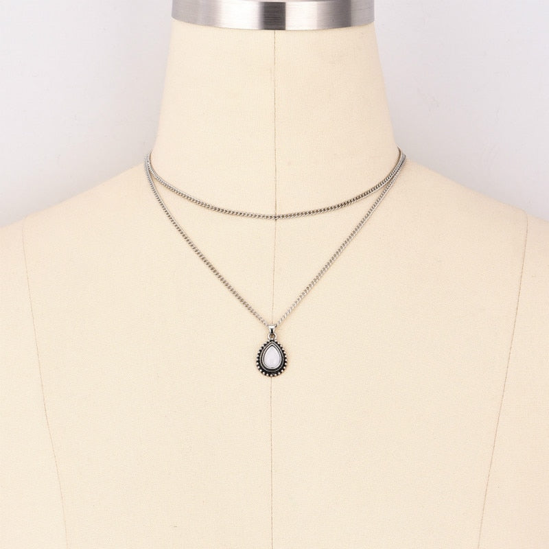 Layered Droplet Necklace