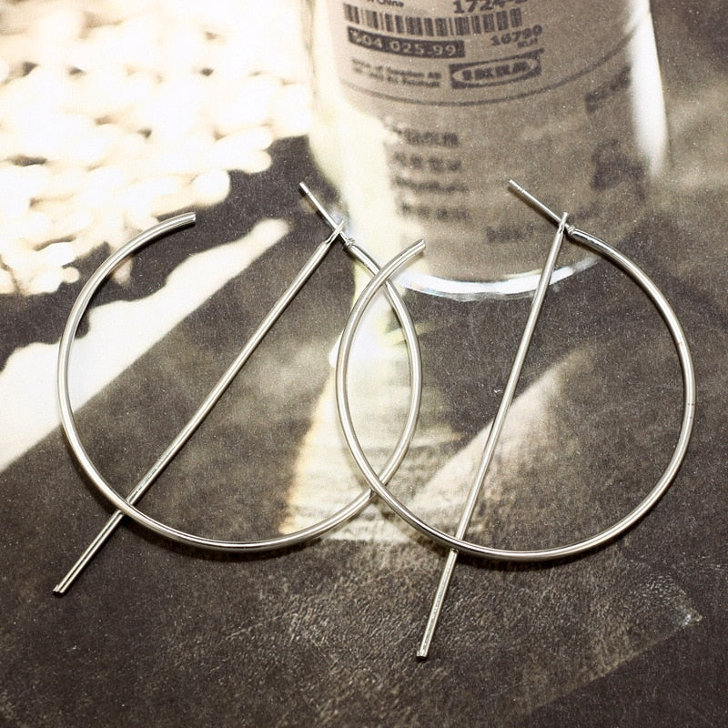 Pendant Hoop Earrings